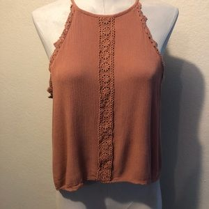 Kendall & Kylie taupe strappy tank